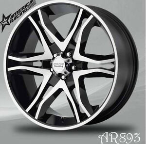 "AMERICAN RACING RIMS 20"" Black machined SALE SAVE up to $500"