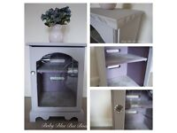 Grey Vintage TV Stand Hi Fi Display Cabinet Shabby Chic