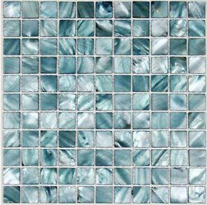 Blue backsplash kitchen tile mother of pearl 11 sheets
