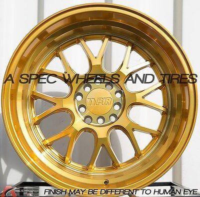 18X10.5 +20 F1R F21 5X114.3 GOLD RIM FIT CIVIC ACCORD ALTIMA 240SX S13 14 5X4.5