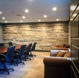 Barnwood planks for accent walls and other projects