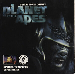 RARE 2001 PLANET OF APES MOVIE THEATER MINI COMIC BOOK PROMO