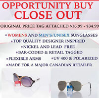 CLOSEOUT OPPORTUNITY BUY!!!!!! HIGH FASHION SUNGLASSES!