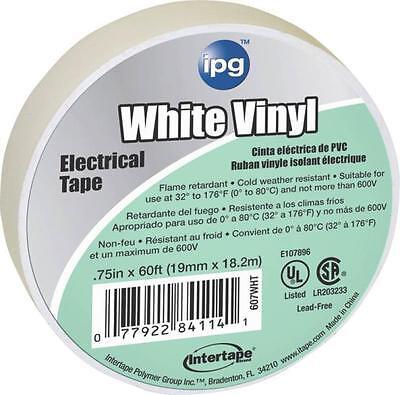 Lot Of 10 Rolls Intertape 85828 34 X 60 White Vinyl Electrical Tape 5426002