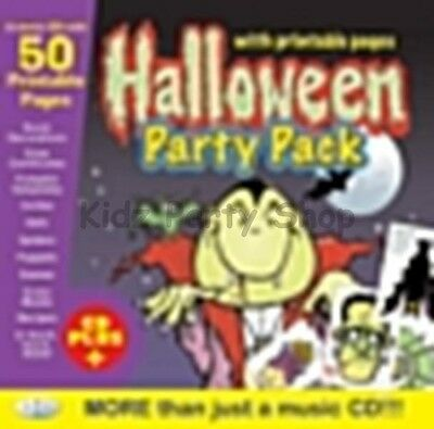 Halloween Party - Music CD +  50 Printable Extras / Games  - Free Postage in UK - Halloween Music Printables