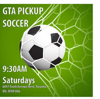 GTA Pickup Soccer games: Every Saturday around 10:30AM. FREE!!!