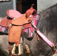 "15"" Custom Made Western Barrel Saddle"