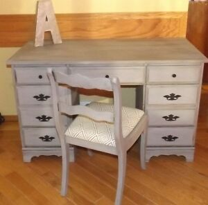 Vintage upcycled desk and chair