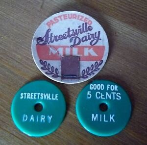 Wanting Streetsville Milk Bottle to fit cap and thier token