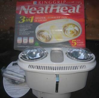 Ringgrip Neat Heat Bathroom Heater Lights New