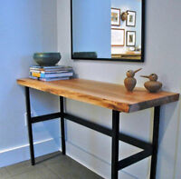 Slab and live edge tables