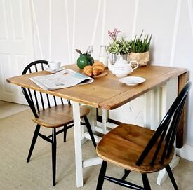Oak Table and Ercol original Windsor chairs
