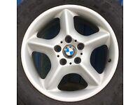 "17"" BMW alloy wheels + tyres set X5 e53."