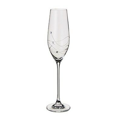 Dartington Crystal Glitz - Flute Glasses - Pair