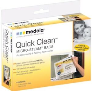 2 packs NEW NEVER OPENED- Medela Quick Clean Steam Bags Kitchener / Waterloo Kitchener Area image 1