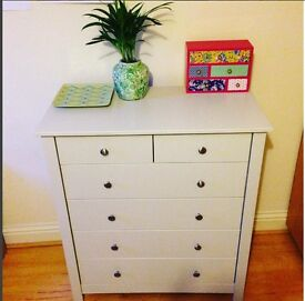 Gorgeous soft grey chest of drawers!