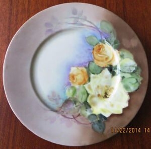 Antique Handpainted  German Plate