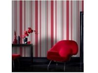 3x 10m stripe wallpaper BRAND NEW