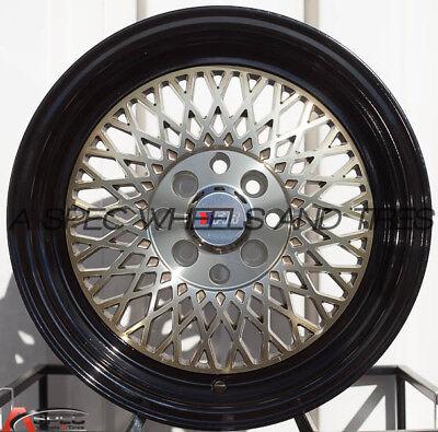 F1R F01 15x8 4x100/114.3 Et25 Machine Bronze Wheels Fits Integra Accord Civic Xb