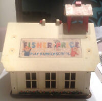 Vintage Fisher Price Play Family School House 1971