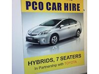 PCO licensed cars for hire