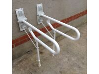 Two Disabled Toilet Handrails