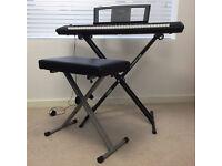 Yamaha Piaggero NP-11 Electronic Keyboard, Stand & Stool