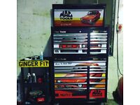 Mac tools stack MK1 escort Mexico stickers