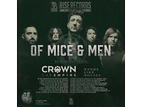 2 x Of Mice & Men tickets - Nottingham
