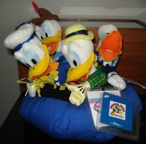 Donald Duck 65 th Anniversary Mini Bean Bag Plush Set ~ DISNEY