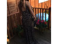 Black sequin evening dress-size 10 (will fit 8/10)