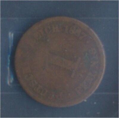 Deutsches Reich Jägernr: 1 1887 D schön Bronze 1887 1 Pfennig (7849182