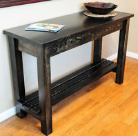 NEW RECOVERY WOOD HANDCRAFTED CONSOLE- ENTRY- SOFA TABLE
