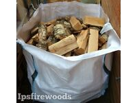 Firewood logs kiln dried hardwood 1m3 bag £75