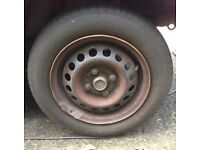 "4x100 13"" Steel Wheel & As New Tyre"