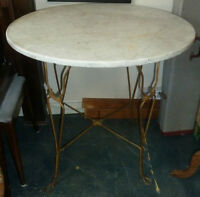 Early 1900's Round Marble Table