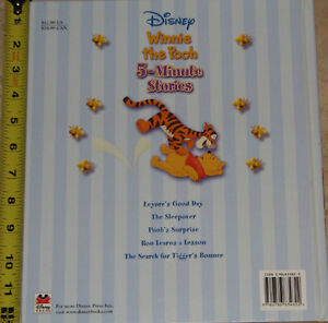 Winnie the Pooh 5 Minute Stories Hard Cover Book London Ontario image 3