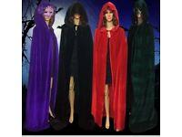 Velvet cloak witchcraft cape