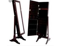 Stand up mirror/jewellery accessory box