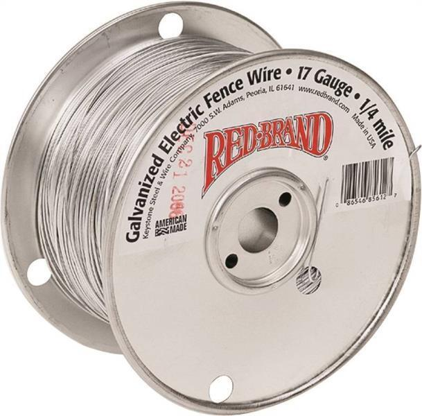 RED BRAND 85612 17 GAUGE 1/4 MILE LENGTH GALVANIZED ELECTRIC
