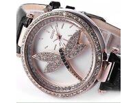 Ladies Rose Crystal Quartz Watch