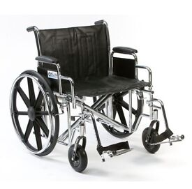 Self propelled wheelchair. As new. Will hold 32 stone. 24 inch seat.