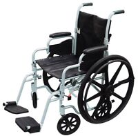 """Drive - Poly-Fly Transport Wheelchair Combo seat width 18"""""""