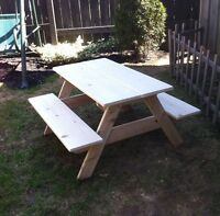 Picnic table for kids 2-4 yrs.