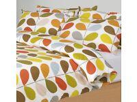 ORLA KIELY ( multi stem ) king size duvet cover plus pillow cases