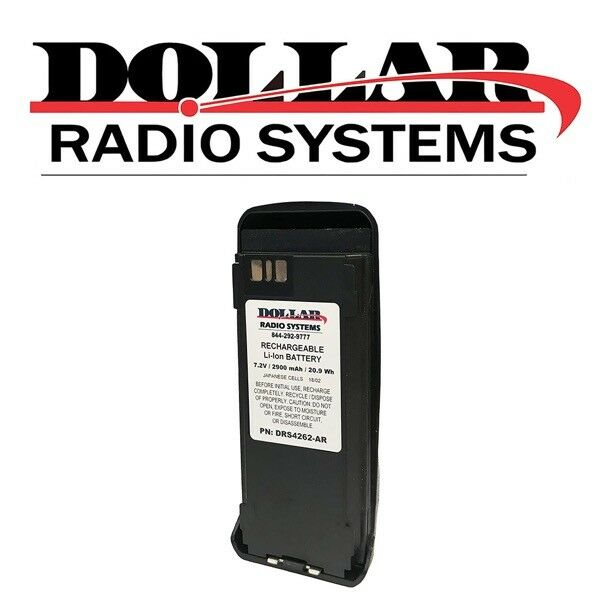 New Replacement Li-Ion Battery for Motorola XPR6350 XPR6550 XPR6580 Radios