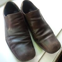 Men's Kenneth Cole Brown Leather Shoes Size 9.5