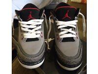 Nike air Jordan 3 trainers uk size 5.5