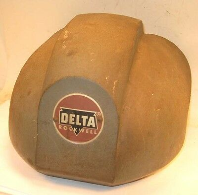 1950s Delta 15 Drill Press Cast Iron Front Cover - Has The Delta Rockwell Logo