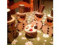 Rustic Christmas snowmen